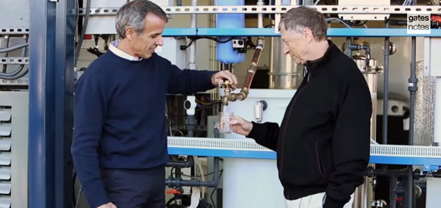 Bill Gates Tastes Proof of Latest Breakthrough Concept in Wastewater Treatment